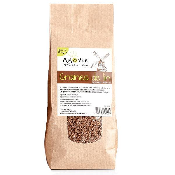 Agovie Graines de Lin Brun 500g
