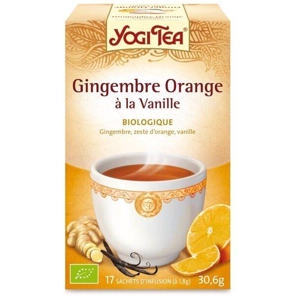 Yogi Tea Gingembre Orange Vanille 17 sachets