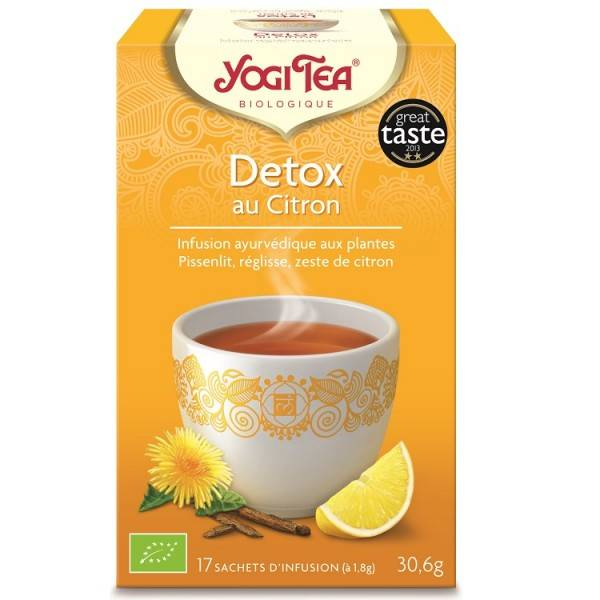 Yogi Tea Detox Citron 17 sachets