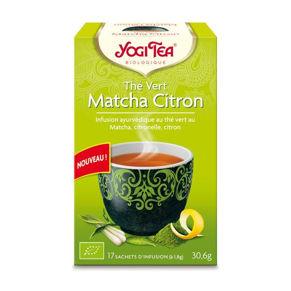 Yogi Tea Thé Vert Matcha Citron 17 sachets