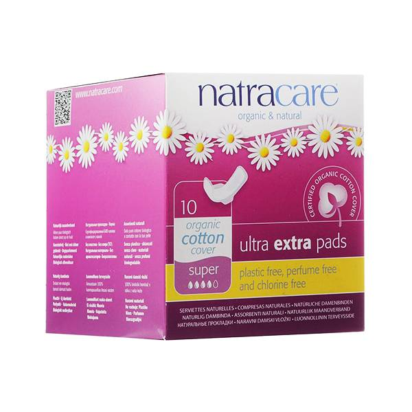 Natracare Serviette Ultra Extra Super 10 unités