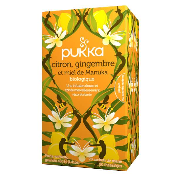 Pukka Tisane Ayurvédique Citron / Gingembre / Miel 20 sachets