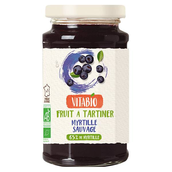 Vitabio Fruit à Tartiner Myrtille Sauvage Bio 290g