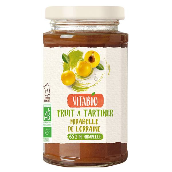 Vitabio Fruit à Tartiner Mirabelle de Lorraine Bio 290g