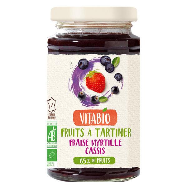 Vitabio Fruits à Tartiner Fraise Myrtille Cassis Bio 290g