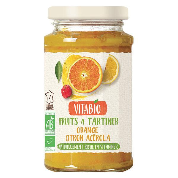 Vitabio Fruits à Tartiner aux Superfruits Orange Citron Acérola Bio 290g