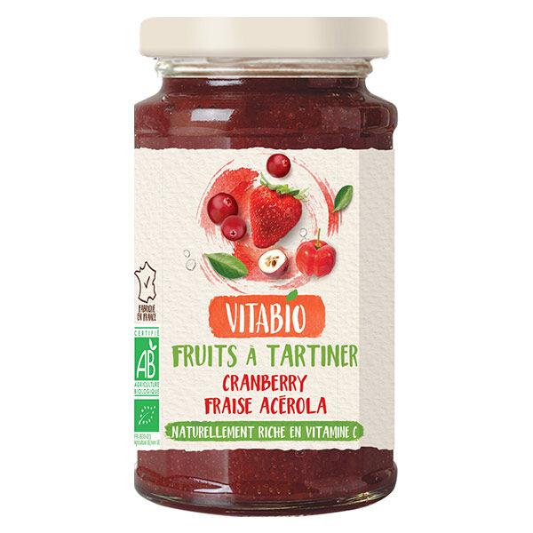 Vitabio Fruits à Tartiner aux Superfruits Cranberry Fraise Acérola Bio 290g
