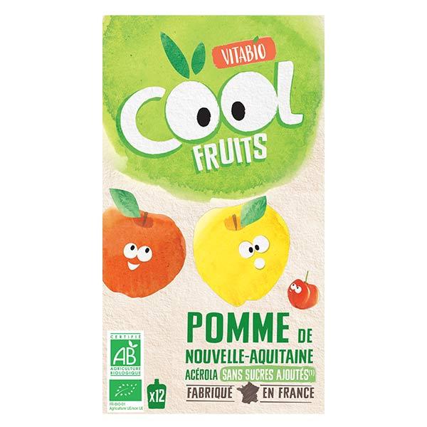 Vitabio Cool Fruits Pomme Acérola Bio Lot de 12 x 90g