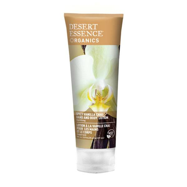 Desert Essence Lotion Bio Inspirante Mains et Corps Vanille Chai 237ml