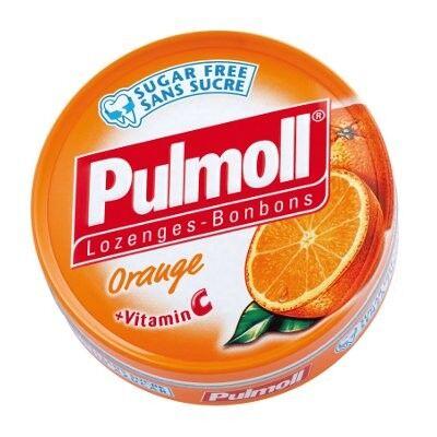 Pulmoll Bonbons Arôme Orange + Vitamine C 45g