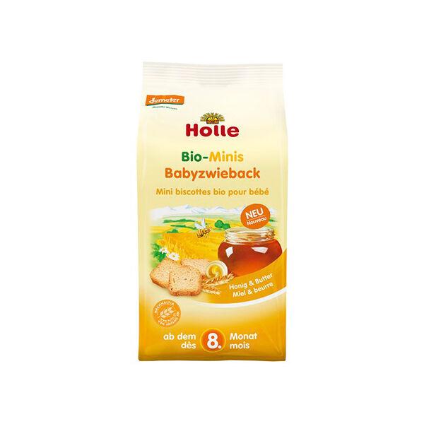 Holle Mini Biscottes Miel et Beurre Bio +8m 100g