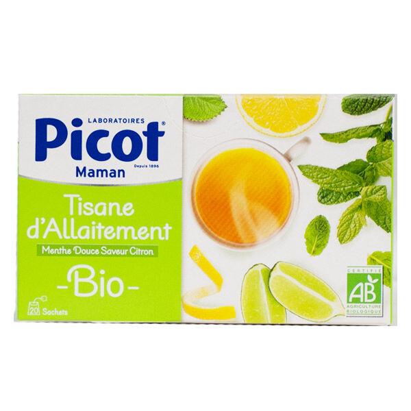 Picot Maman Tisane d'Allaitement Menthe Douce Saveur Citron Bio 20 sachets