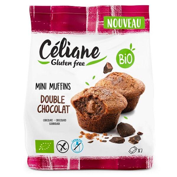 Les Recettes de Céliane Mini Muffins Double Chocolat sans Gluten Bio 200g