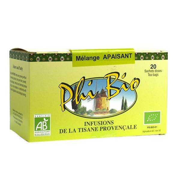 Tisane Provencale Tisane Provençale Phi Bio Mélange Apaisant 20 sachets