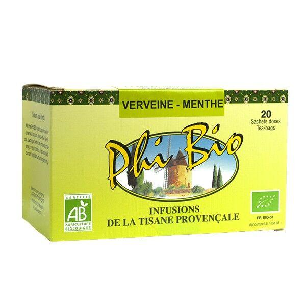 Tisane Provençale Phi Bio Thé Verveine Menthe 20 sachets