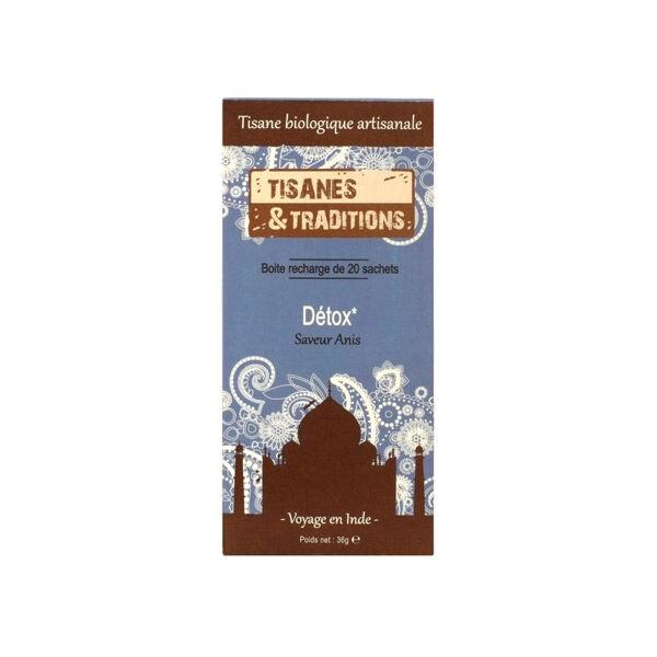 Tisanes & Traditions Détox Boite Recharge 20 sachets