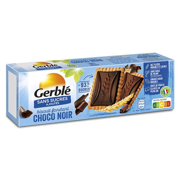 Gerblé Sans Sucres Ajoutés Biscuits Chocolat Noir Fondant 126g