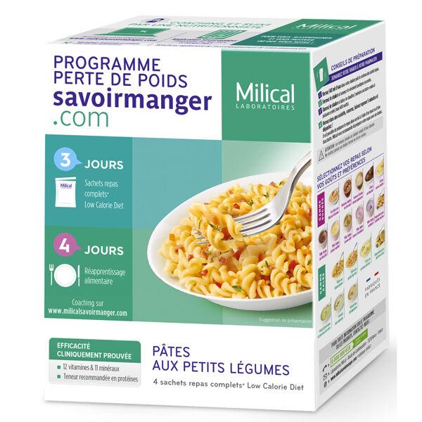 Milical LCD Pâtes Aux Petits Légumes 4 Sachets repas