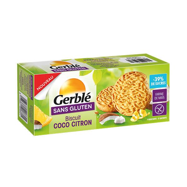 Gerblé Sans Gluten Biscuits Coco Citron à Teneur Réduite en Sucres 120g