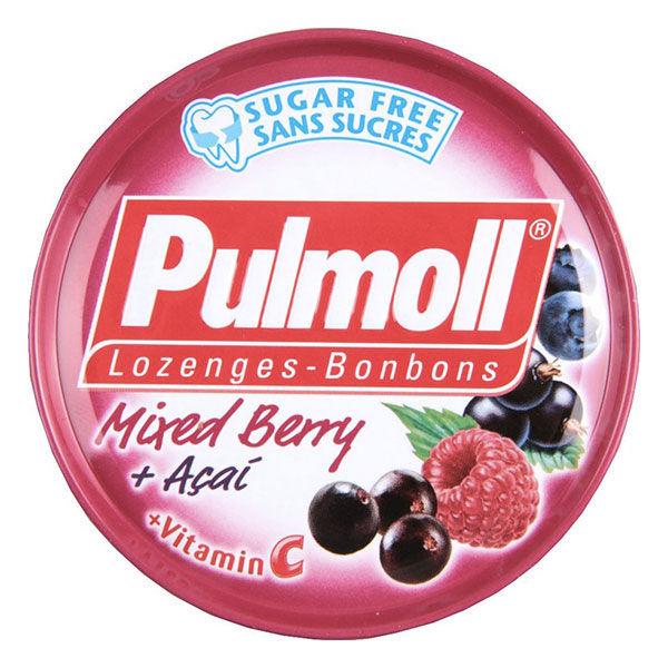 Pulmoll Bonbons Arôme Fruits Rouges - Mixed Berry + Açai + Vitamine C 45g
