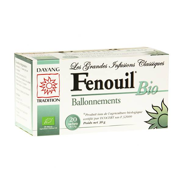 Dayang Infusion Fenouil Bio Ballonements 20 sachets