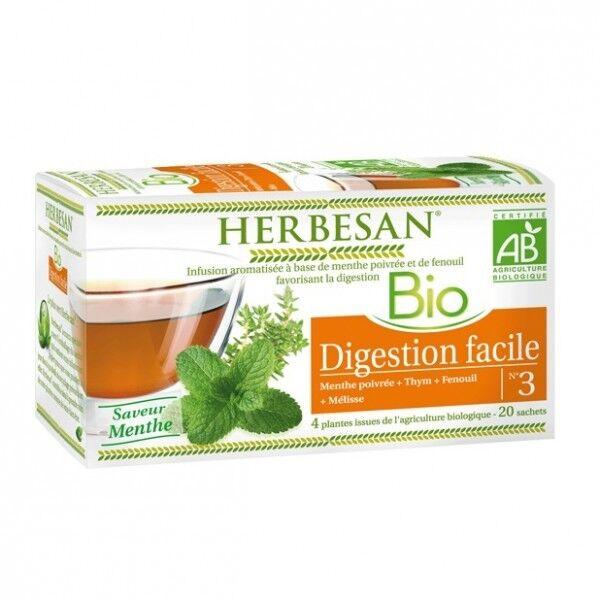 Herbesan Bio Infusion Digestion Facile Saveur Menthe n°3 20 sachets