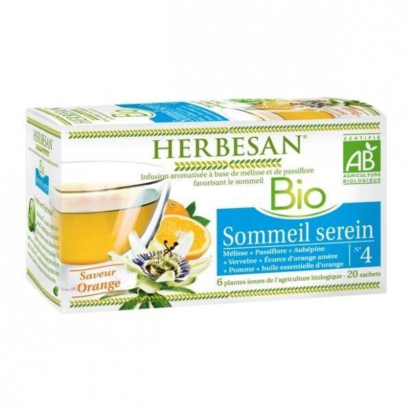 Herbesan Bio Infusion Sommeil Serein Saveur Orange n°4 - 20 sachets