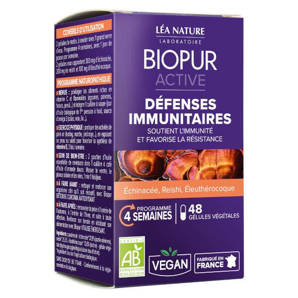 Biopur Active Immunité Echinacée Reishi 48 gélules végétales