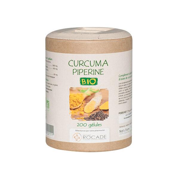 Nat & Form Eco-Responsable Curcuma Pipérine Bio 200 gélules