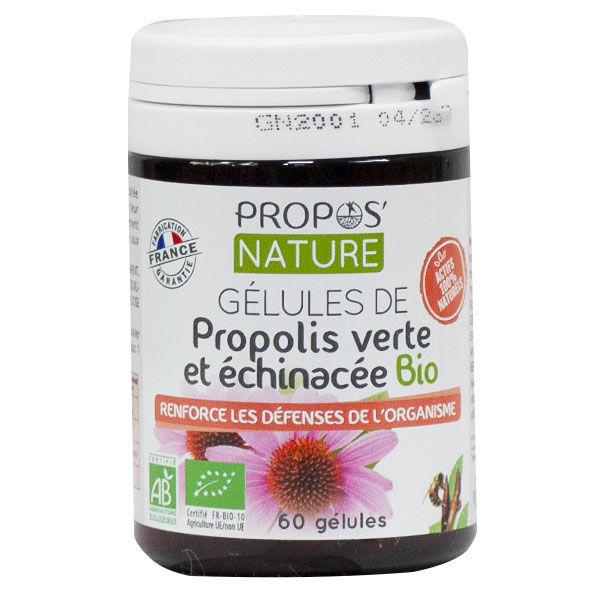 Propos'Nature Gélules Propolis Verte et Echinacée Bio 60 gélules