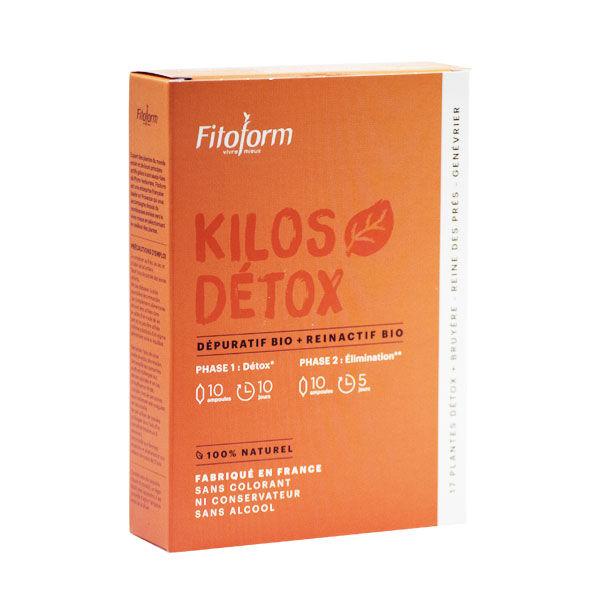 Fitoform Dépuratif Bio Kilos Detox Bio 20 ampoules