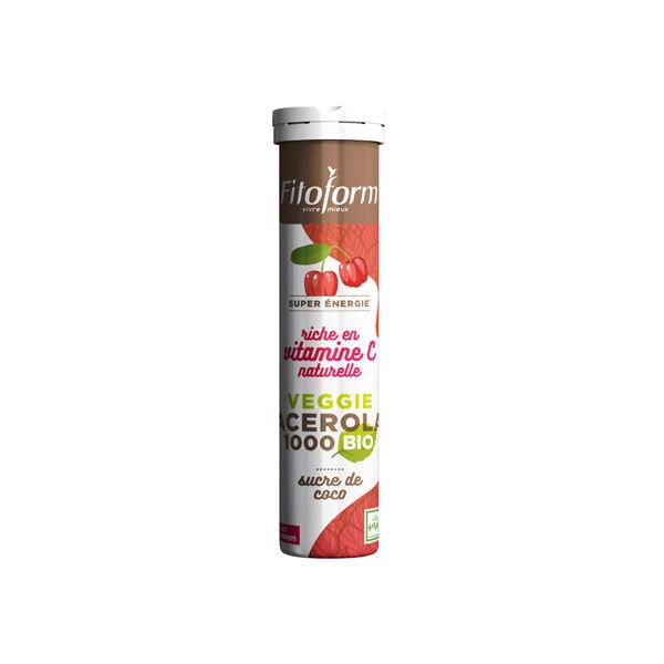 Fitoform Acérola Bio Sucre de Coco Faible indice Glycémique 1000mg 12 comprimés