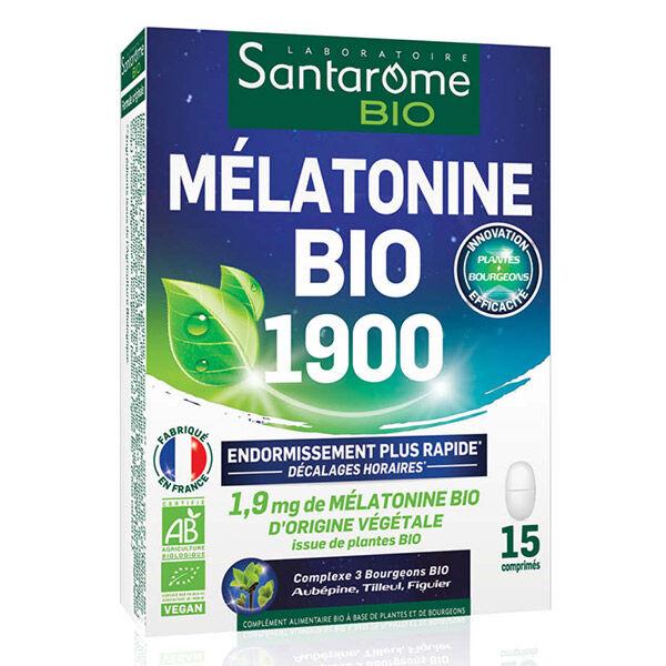 Santarome Bio Mélatonine Bio 1900 15 comprimés