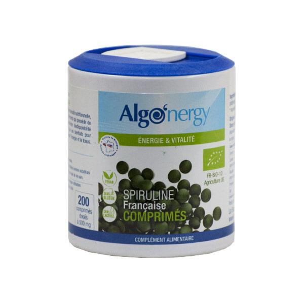 Algonergy Spiruline Francaise Bio Premium 200 comprimés