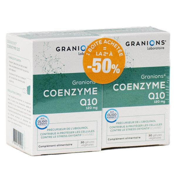 Granions Coenzyme Q10 120mg Lot de 2 x 30 gélules végétales