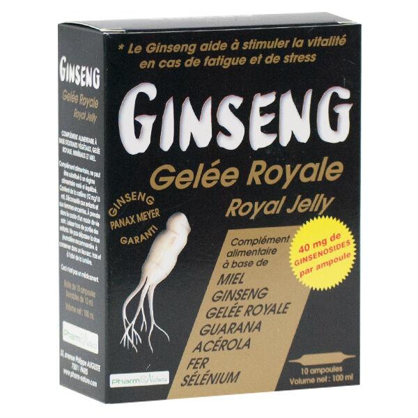 Pharm & Nature Ginseng Gelée Royale Plus Concentré 10 ampoules