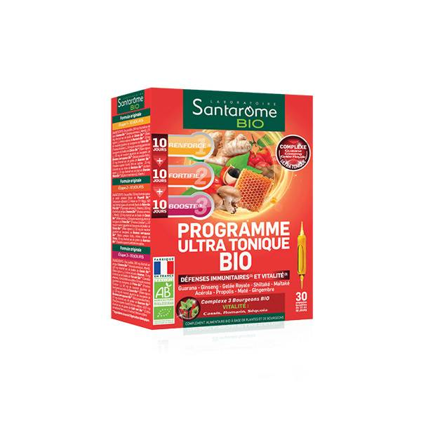Santarome Bio Programme Ultra Tonique Défenses Immunitaires 30 ampoules