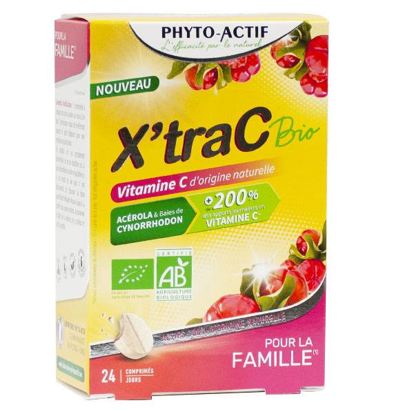Phytoactif X'traC Bio Vitamine C 24 Comprimés