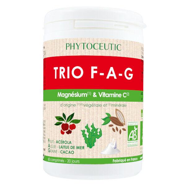 Phytoceutic Trio F-A-G Magnésium et Vitamine C 60 comprimés