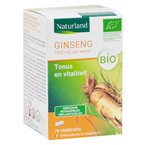 Naturland Ginseng Bio Tonus Vitalité 75 Végécaps