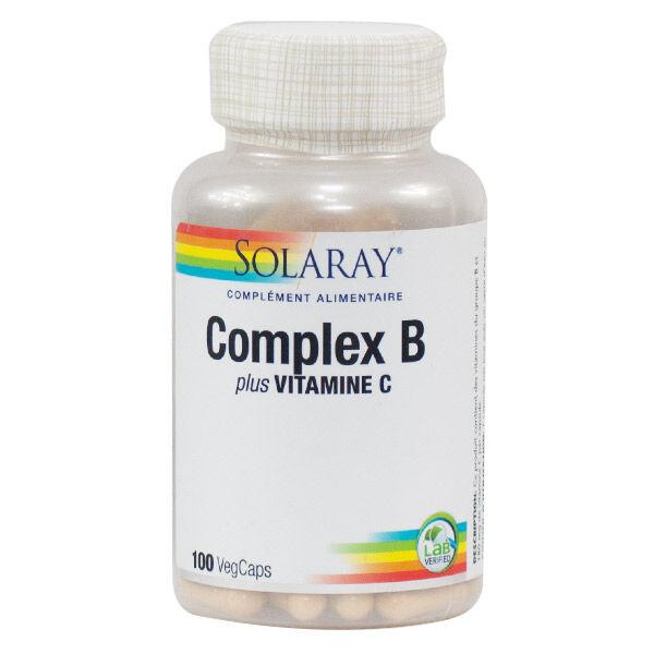 Solaray Complex B Plus Vitamine C 100 capsules