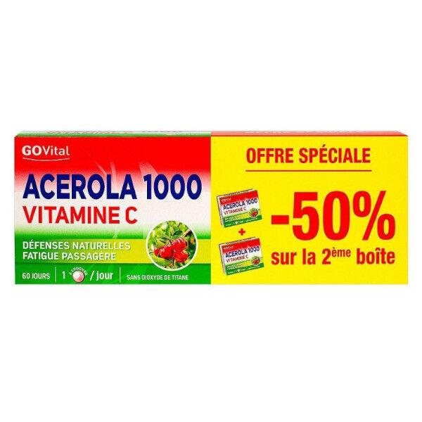 Alvityl Acerola 1000 Lot de 2 x 30 comprimés à croquer