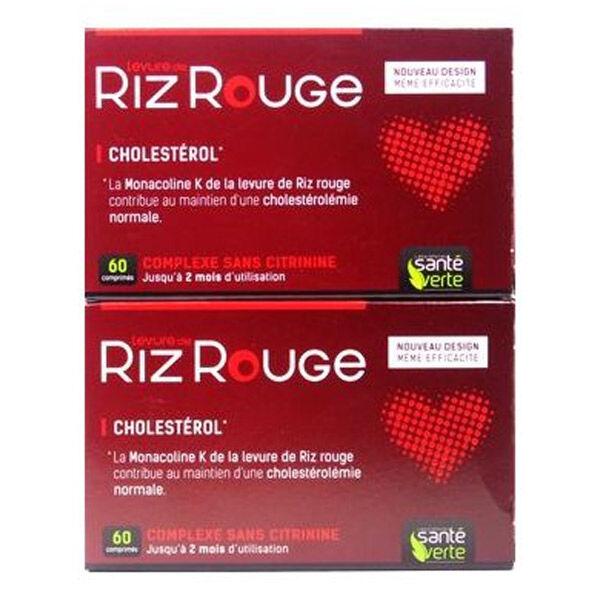 Santé Verte Levure de Riz Rouge Lot de 2 x 60 comprimés