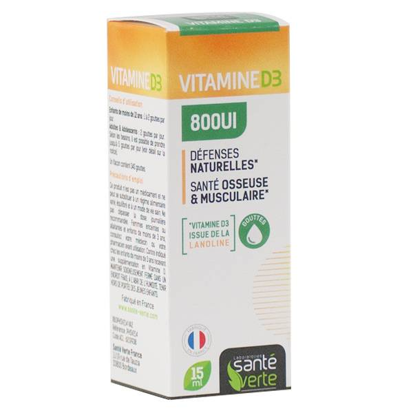 Santé Verte Vitamine D3 800UI 15ml