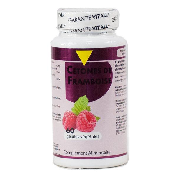 Vit'all+ Cétones de Framboise 300mg 60 gélules végétales