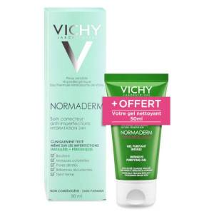 Vichy Normaderm Soin Correcteur Anti-Imperfections 50ml + Normaderm Phytosolution Gel Purifiant Intense 50ml Offert