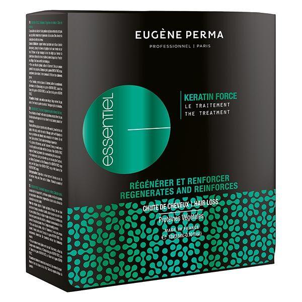Essentiel Eugene Perma Essentiel Keratin Force Traitement Anti-Chute Lot de 12 x 3,5ml