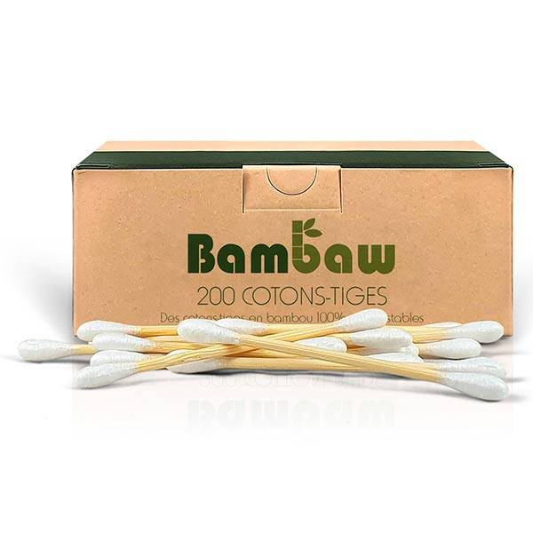 Bambaw Hygiène & Beauté Coton-Tiges 200 unités