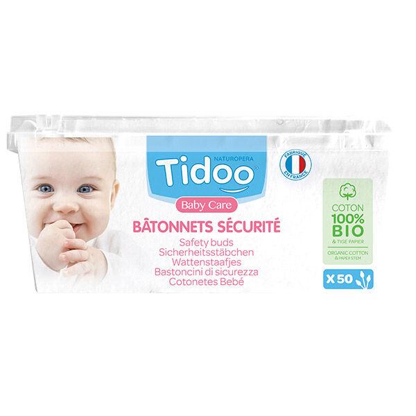 Tidoo Coton Tige Sécurité Bio 50 bâtonnets