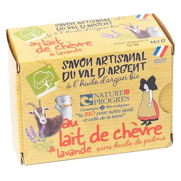 Argasol Savon Artisanal du Val d'Argent Lait de Chèvre & Lavande Bio 140g